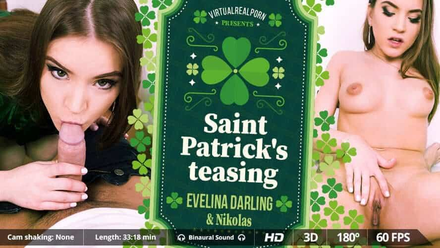 Saint Patricks teasing Evelina Darling